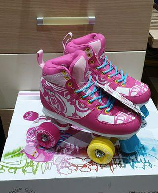 nuevos con etiquetas patines 4 ruedas niña quad