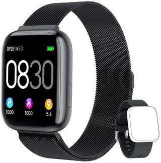 "Smartwatch, 1.4"" Reloj Inteligente IP67 2 correas"