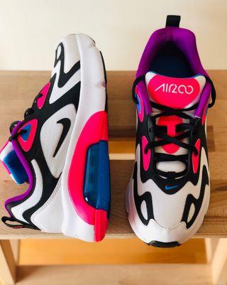 Nike Air Max 200 38,5 Blanco, rosa, negro y azul