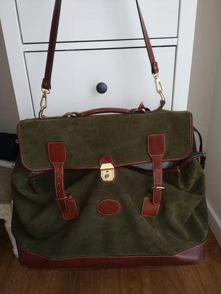 maleta bolsa piel