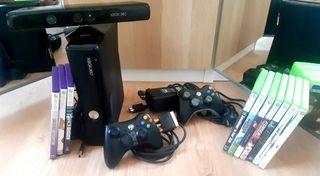 Xbox 360 + sensor + 10 juegos