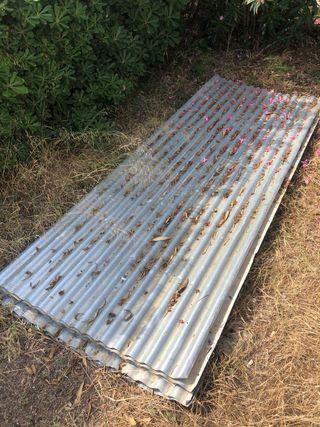 Panel techo acero galvanizado 300x110cm 6 unidades