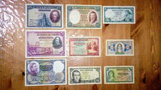 Billetes de pesetas. ( 9 )