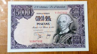 Billete de 5000 pesetas 1976