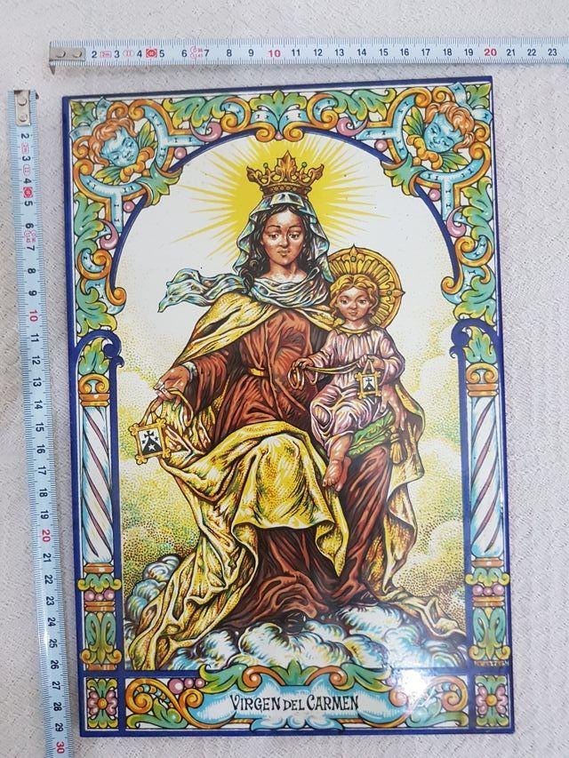 Azulejo de la Virgen del Carmen