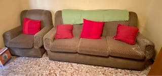 URGE sofá 3 plazas + butaca vintage