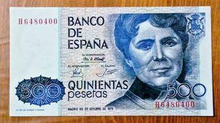 Billete de 500 pesetas 1978.