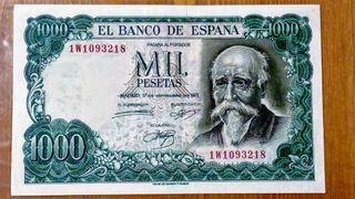 Billete de 1000 pesetas 1971