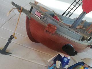 Barco Pirata + Figuras Playmobil