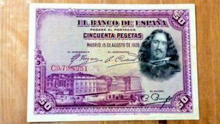 Billete de 50 pesetas del año 1928