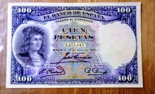 Billete de 100 pesetas 1931