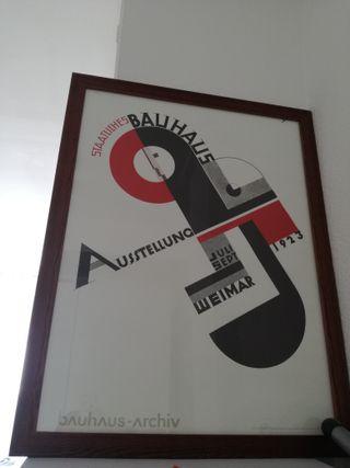 Marco 90x50 con lámina de Bauhaus