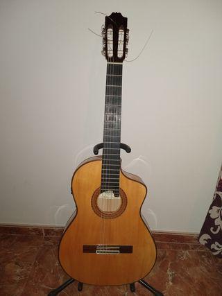 Guitarra admira Cristina + amplificador Marshall