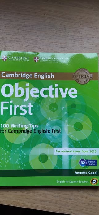 Objective First.Libros ingles