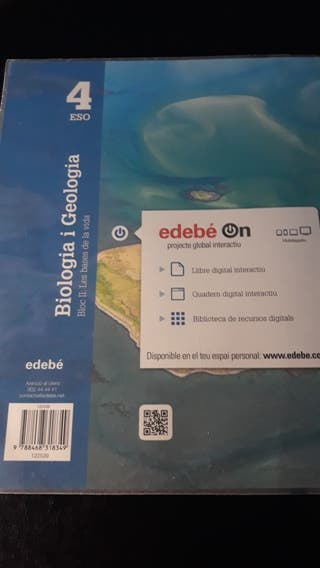 Llibres de Biologia i Geologia 4 ESO. Bloc I i II.