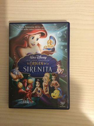 Película DVD de El Origen de La Sirenita