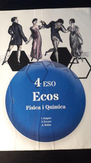 Llibre de Física i Química de 4rt ESO.