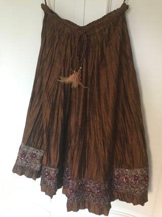 Falda de seda talla M