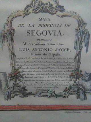 MAPA DE LA CIUDAD DE SEGOVIA ANTIGUA