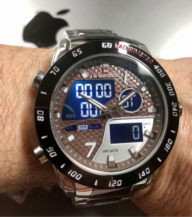 Reloj NAVIFORCE plata/café
