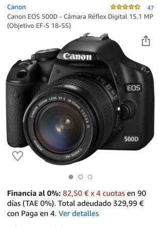 Camara reflex Canon EOS 500D