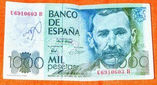 Billete de 1000 pesetas, Benito Pérez Galdós.