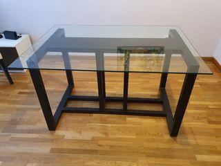 Mesa preciosa Cristal y madera