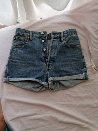 pantalones levis cortos niña