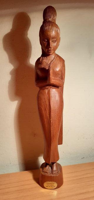 Figura Thai, madera de teka.
