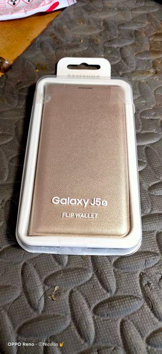 funda libro para Samsung Galaxy J5 2017 dorada
