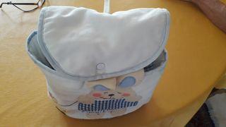 bolsa bebé o para ir al colegio hecha a mano