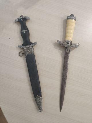 2 dagas cuchillos nazis militares