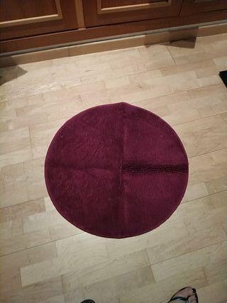 alfombra redonda color buganvilla