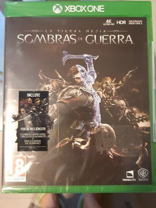 Juego Sombras de guerra. Xbox One. Precintado