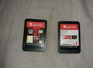 WWE 18 y 2k18 15€ los dos