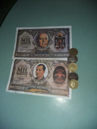 Propagandas elecciones y monedas
