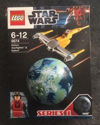 LEGO STAR WARS 9674 - NABOO STARFIGHTER & NABOO