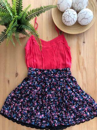 Conjunto falda + blusa
