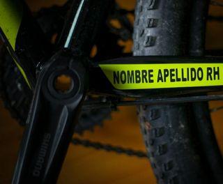 Pegatina personalizada para la bicicleta