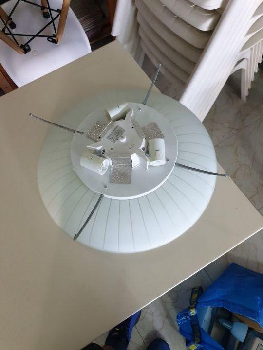 Plafón de 3 bombillas