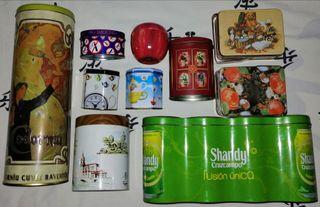 10 latas / cajas decorativas