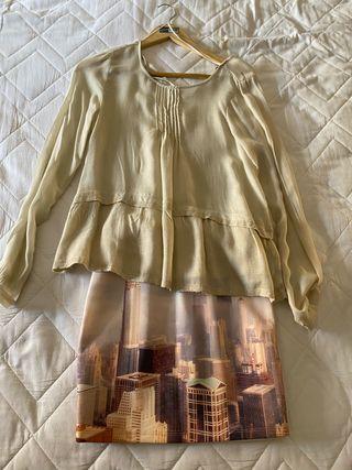 Conjunto falda y camisa Pull and Bear