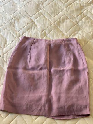 Falda mango en color morado