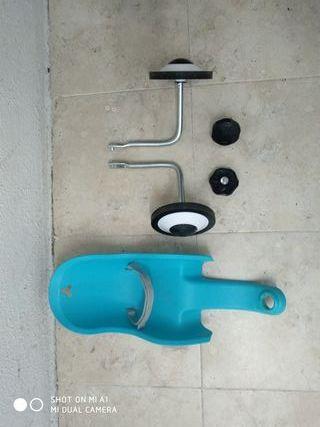 ruedines y asiento muñeca bicicleta infantil