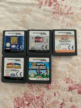 5 Juegos nintendo DS