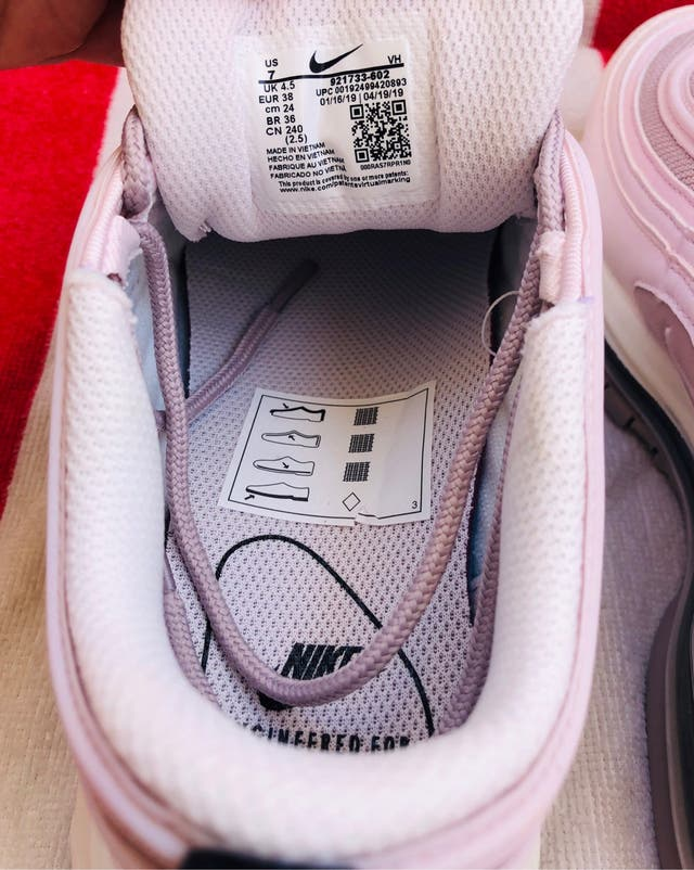 Nike Air Max 97 rosa palo y Lila 38