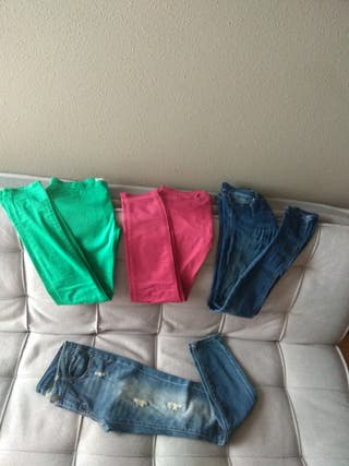 lote 4 pantalones