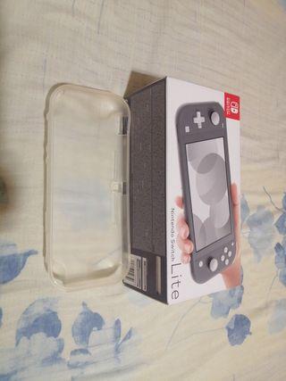 Nintendo switch lite gris más mario maker