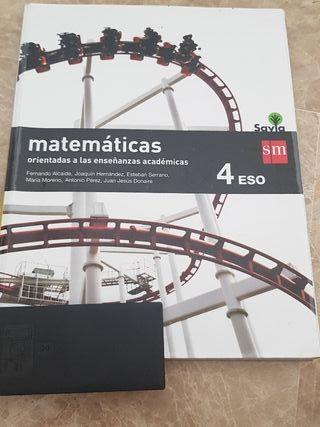 Libro Matemáticas, 4 ESO de SM