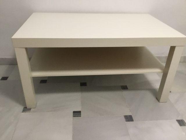 Mesa centro baja blanca